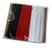 Knicker Elastic Pack - White Red Black